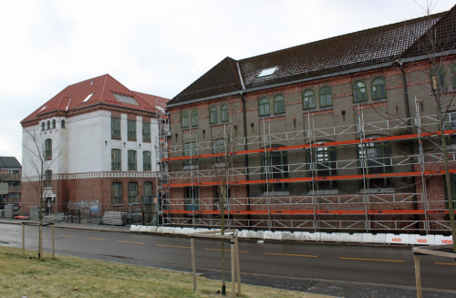 Gamle Kirkegata skole rehabiliteres etter alle kunstens regler, både innvendig og utvendig.